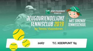 jeugdvriendelijke tennisclub en erkende tennisschool 2019