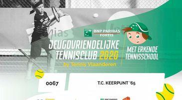 jeugdvriendelijke tennisclub en erkende tennisschool 2020